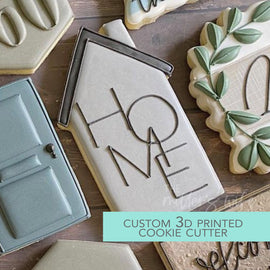 Skinny Home Cutter - Housewarming Cookie Cutter -  3D Printed Cookie Cutter - TCK85142