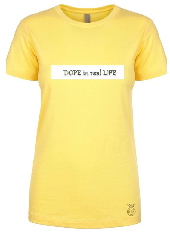 Women's Yellow DOPE tee