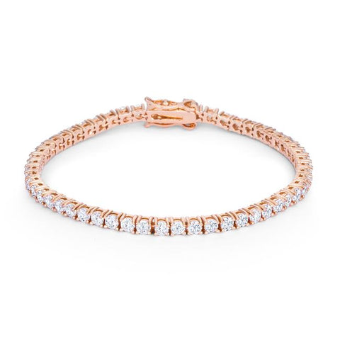 5.75ct Rose Goldtone Cubic Zirconia Tennis Bracelet