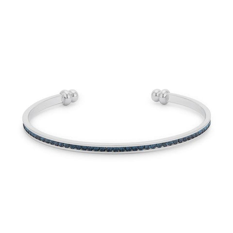 Channel Set Montana Blue Cubic Zirconia Cuff