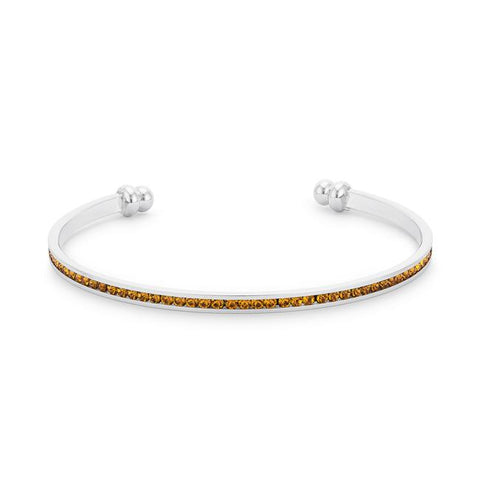 Channel Set Canary Cubic Zirconia Cuff