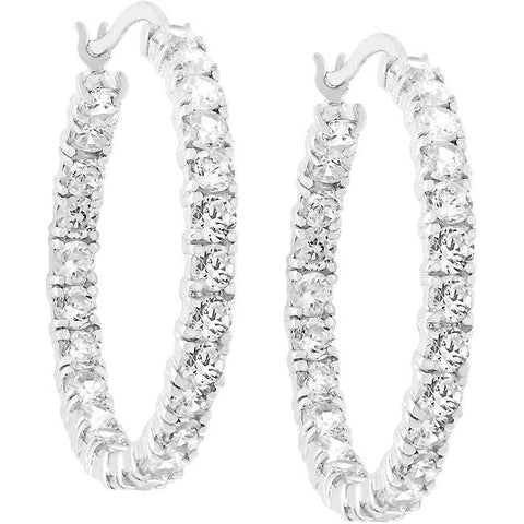 Eternity Hoop Earrings
