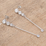 1.2 Ct Drop Cubic Zirconia Earrings.