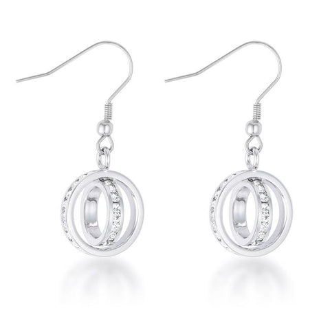 Tera 1.25ct CZ Double Ring Drop Earrings