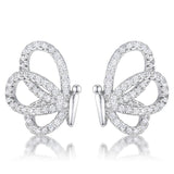 .45 Ct CZ Butterfly Stud Earrings