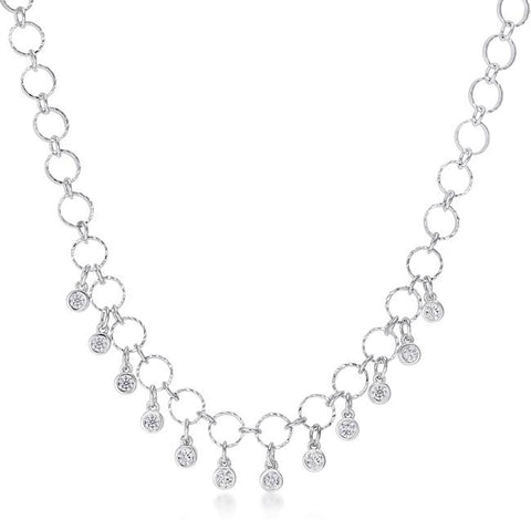 1.32 Ct Stunning Necklace with CZ Charms