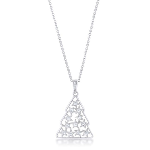 .2 ct CZ Christmas Tree Pave Holiday Pendant
