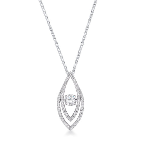 Contemporary Elliptical Dancing CZ Pendant