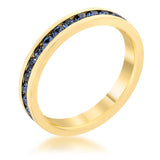 Stylish Stackables Montana Blue Gold Ring