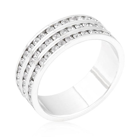 Triple Row Crystal Eternity Band