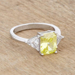Classic Peridot Engagement Ring