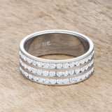 Dreya 1.6ct CZ Stainless Steel Eternity Ring
