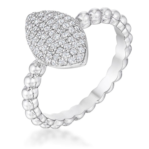 .3Ct Beautiful Oval-Designed Ring With Clear CZ