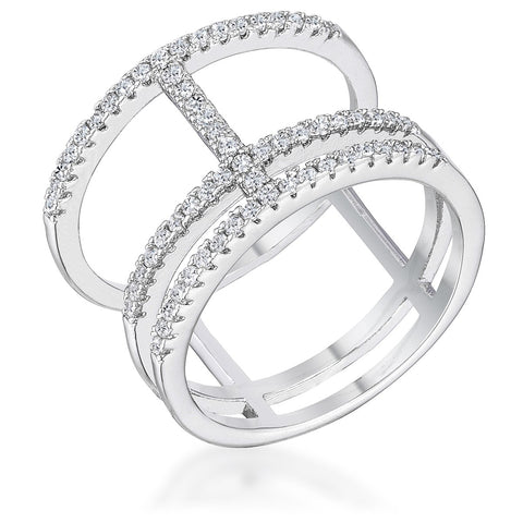 0.5 Ct Parallel Ring with Brilliant CZ