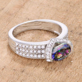 1.6 Ct Mystic Oval CZ Ring