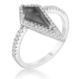 Trendy Prism Smokey Topaz CZ Ring