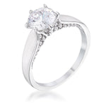 1.56 Ct Contemporary CZ Solitaire Ring