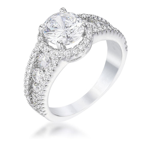 2.1 Ct Solitaire Engagement Halo Ring