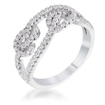 1.15 Ct CZ Pave Double Knot Ring