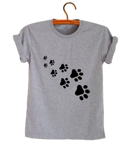 Cat Paws Print T-Shirt