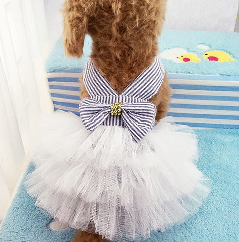 Cute Small Dog Wedding Dress