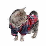 Trendy Plaid Cat/Dog Button Shirt