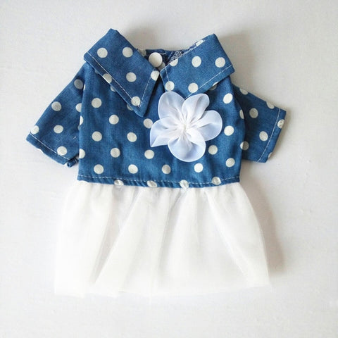 Blue Vintage Flower Cat/Dog Dress