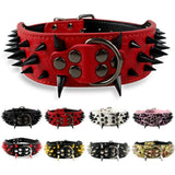 Spiked Studded Leather Adjustable Dog Collars