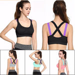 Full Cup Shockproof Cross Back Sports Bra