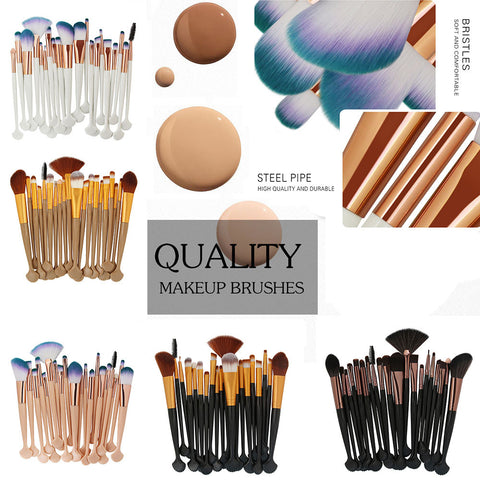 High Quality Cosmetic Makeup Brushes - 20PCS (15 Colors)