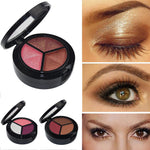 Long-lasting Matte/Glitter/Smokey Eye Shadow - Set of 3 colors