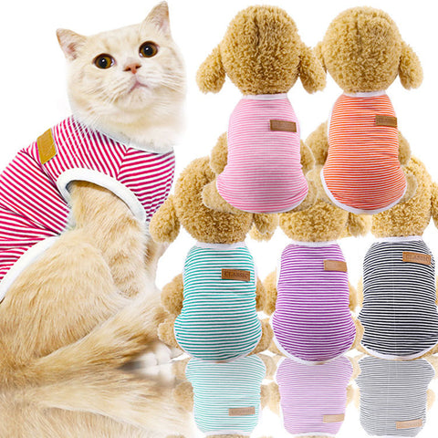 Stripe Vest For Small Pets