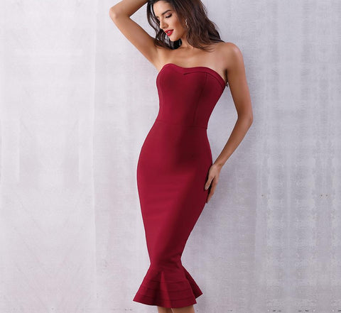 Elegant Strapless Dress