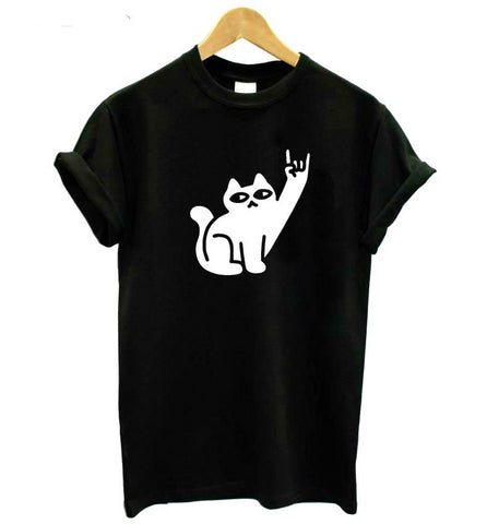 Cats Like Metal Print T-Shirt