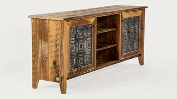 The Bolton Console - Reclaimed Tin inlay