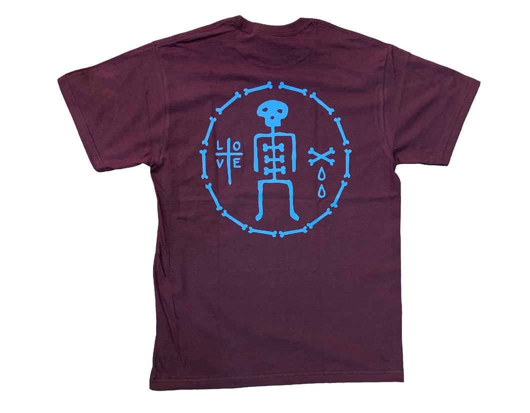 BIG LOVE BONES Tee maroon