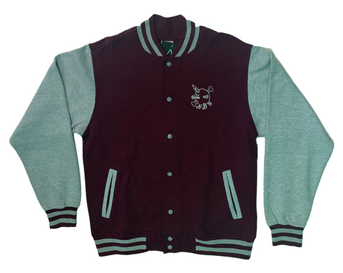 SpaceBall baseball jacket Maroon
