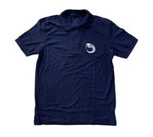 James Enox Scull Snake Polo T-Shirt Navy