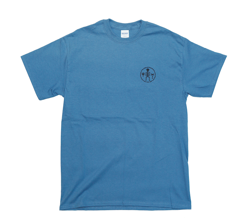 James Enox Love Bones Tee Indigo Blue