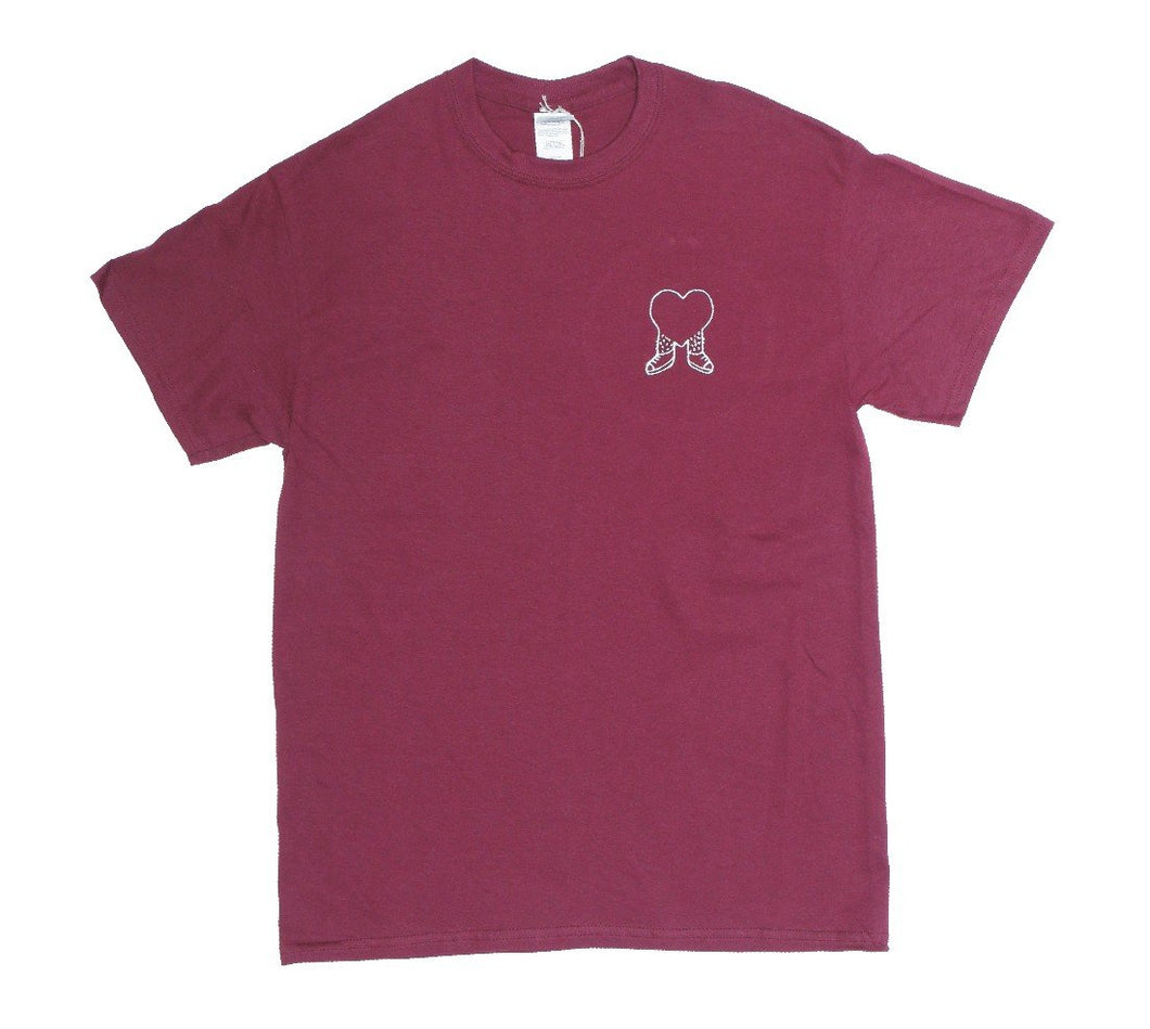 James Enox Walking Heart Maroon