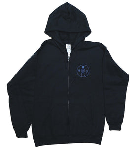James Enox LOVE BONE Zip Hooded Sweat Black