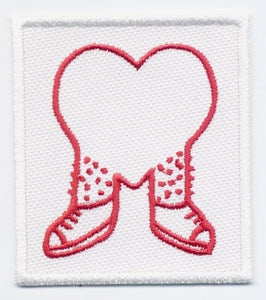 James Enox Walking Heart patch