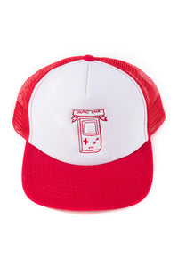 James Enox X Game Boy X RED Trucker CAP