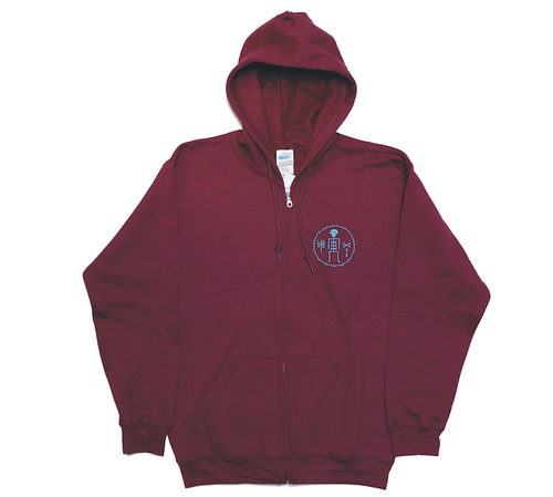 James Enox LOVE BONE Zip Hooded Sweat Maroon