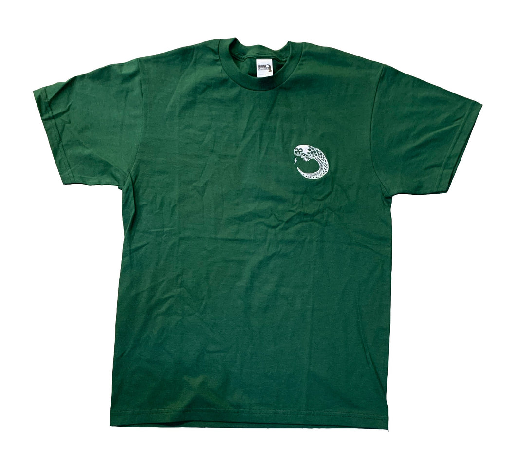 Scull Snake Tee Forest Green