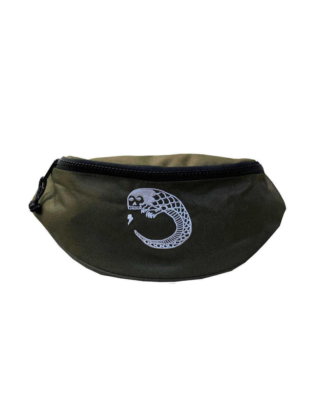 James Enox Scull Snake waist bag Army Green