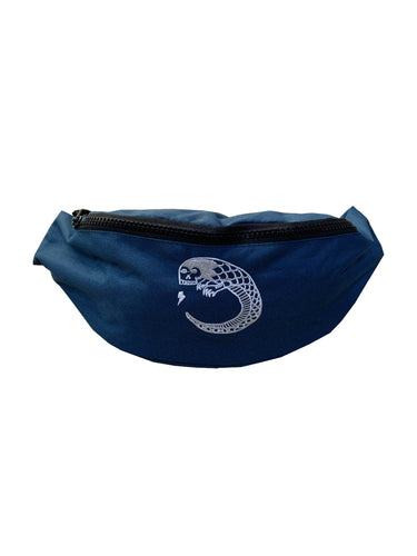 James Enox Scull Snake waist bag Teal Blue