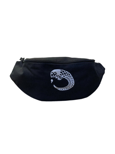 James Enox Scull Snake waist bag Black
