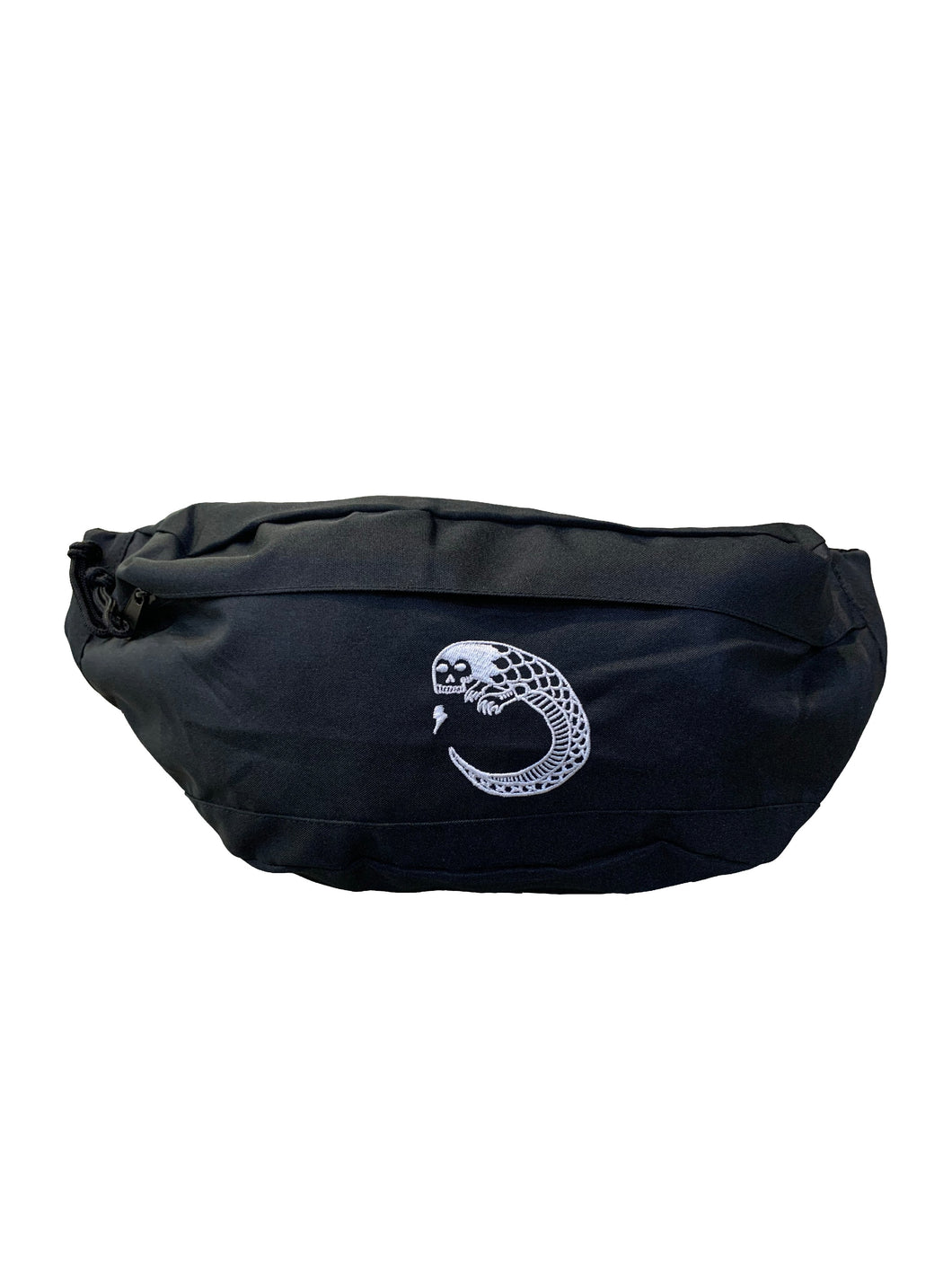 James Enox Scull Snake Oversized Across Body Bag Black