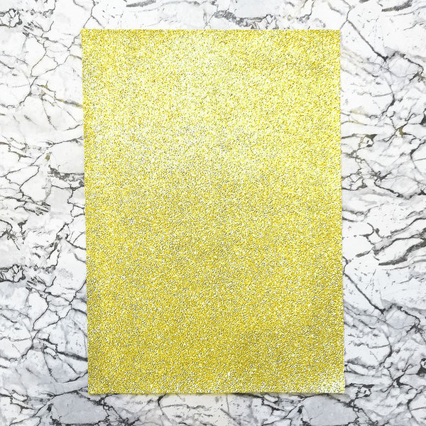 FINE Glitter Fabric A4 Sheet; Metallic Gold